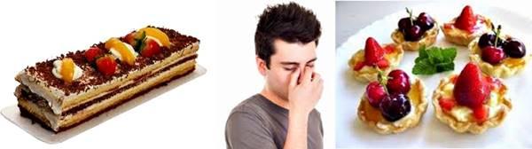 Mareos y dolor de cabeza al comer postres y tomar malteadas dulces