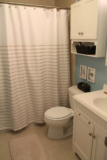Master Bathroom Makeover (from brown to bright!)