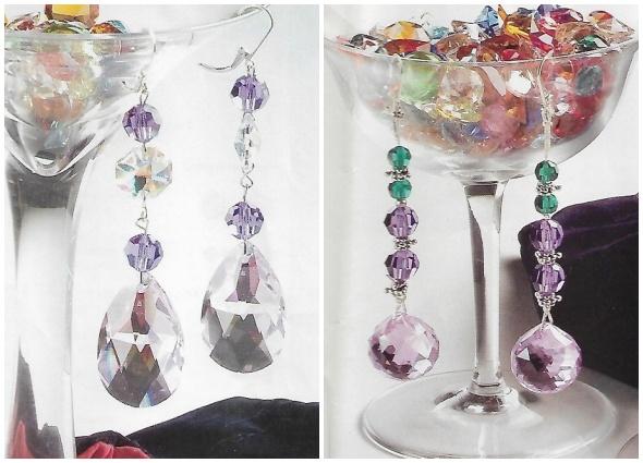 pendientes cristales, diy, bisutería, manualidades