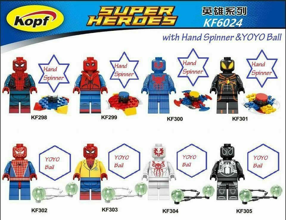 Kopf Kf6024 Spider Man Homecoming And Comic Minifigs Preview