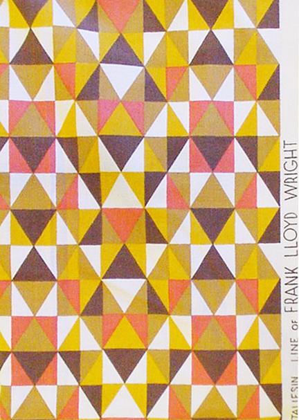 Frank Lloyd Wright Taliesin >> Historically Modern: Quilts, Textiles & Design: Modern ...