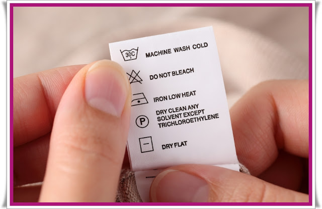 etiquetas, Vanish, cuidados com as roupas