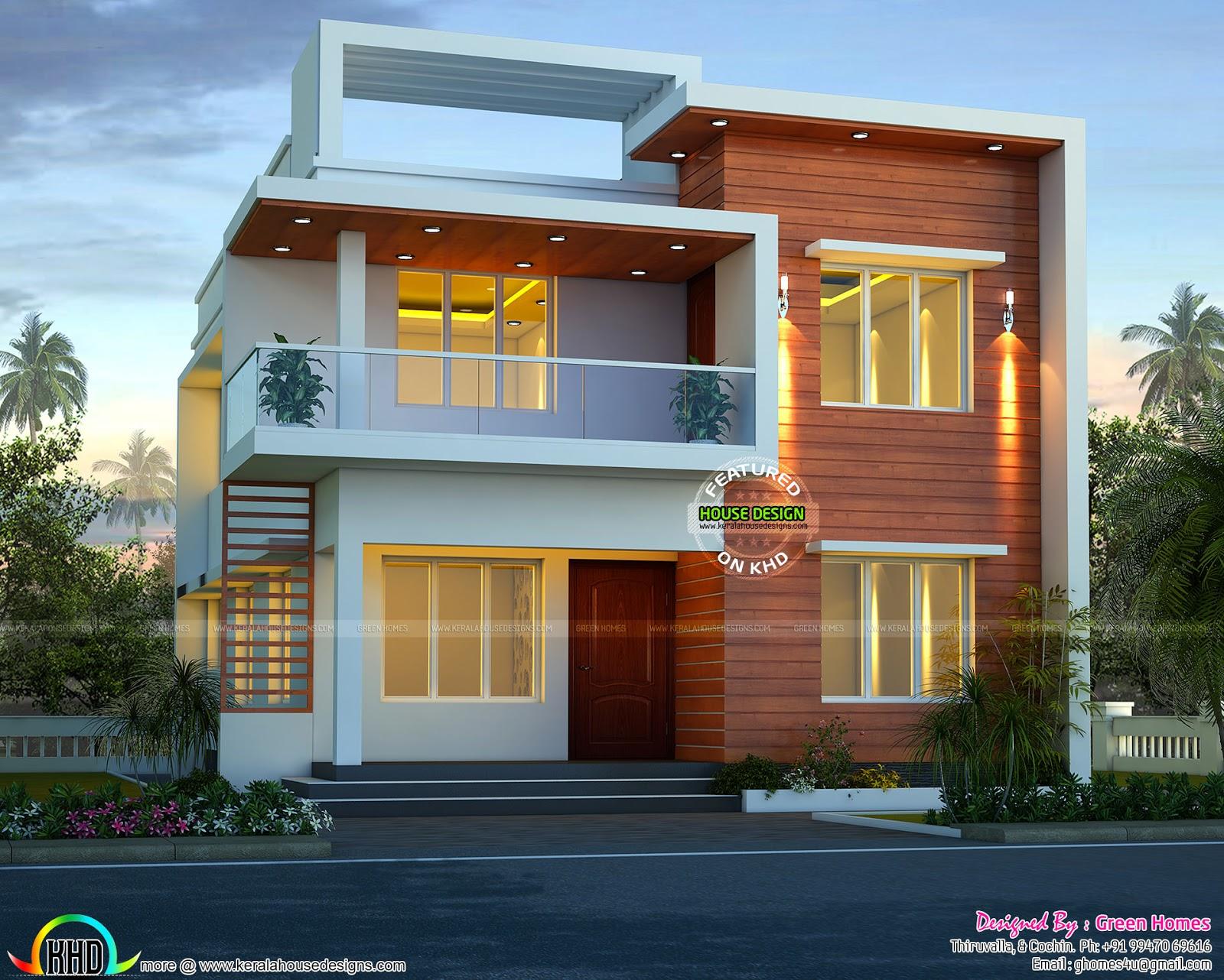 Kerala home design and floor plans: Cute modern house ...