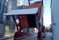 Container unloader for Polypropelene Resin The Libman Company