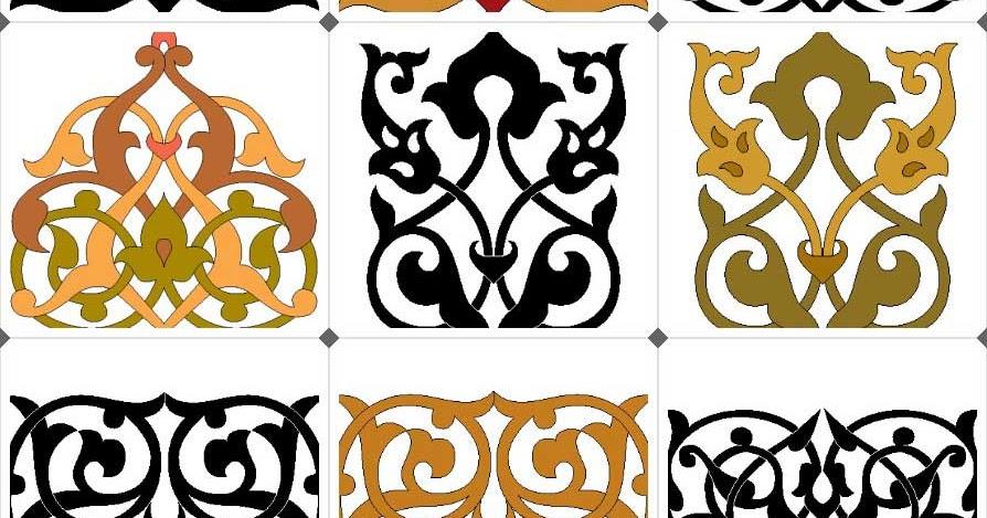 زخارف اسلامية ملونة فيكتور Islamic Decoration