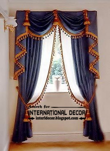 Best Modern curtain designs 2017 curtain ideas colors, luxury blue curtains