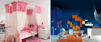 Warna pada kamar tidur anak