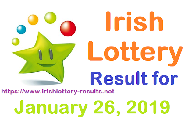Irish Lottery Results foe Saturday, 26 January 2019
