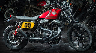 sportster iron 883 scrambler by hd on the road napoli