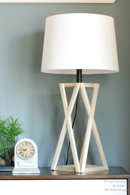 DIY tapered X geometric lamp