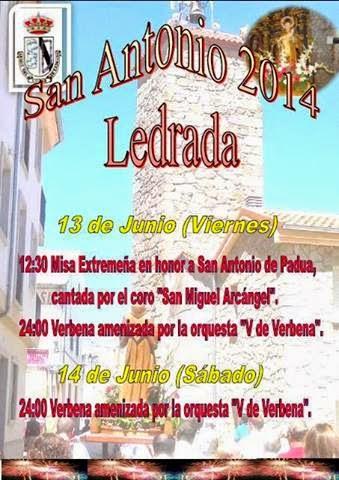 13/Junio. Fiestas de San Antonio de Padua. Ledrada