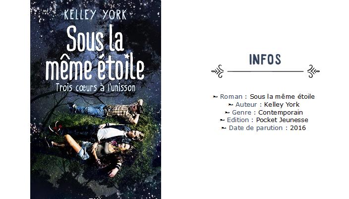 Avis roman - Sous la même étoile - Kelley York