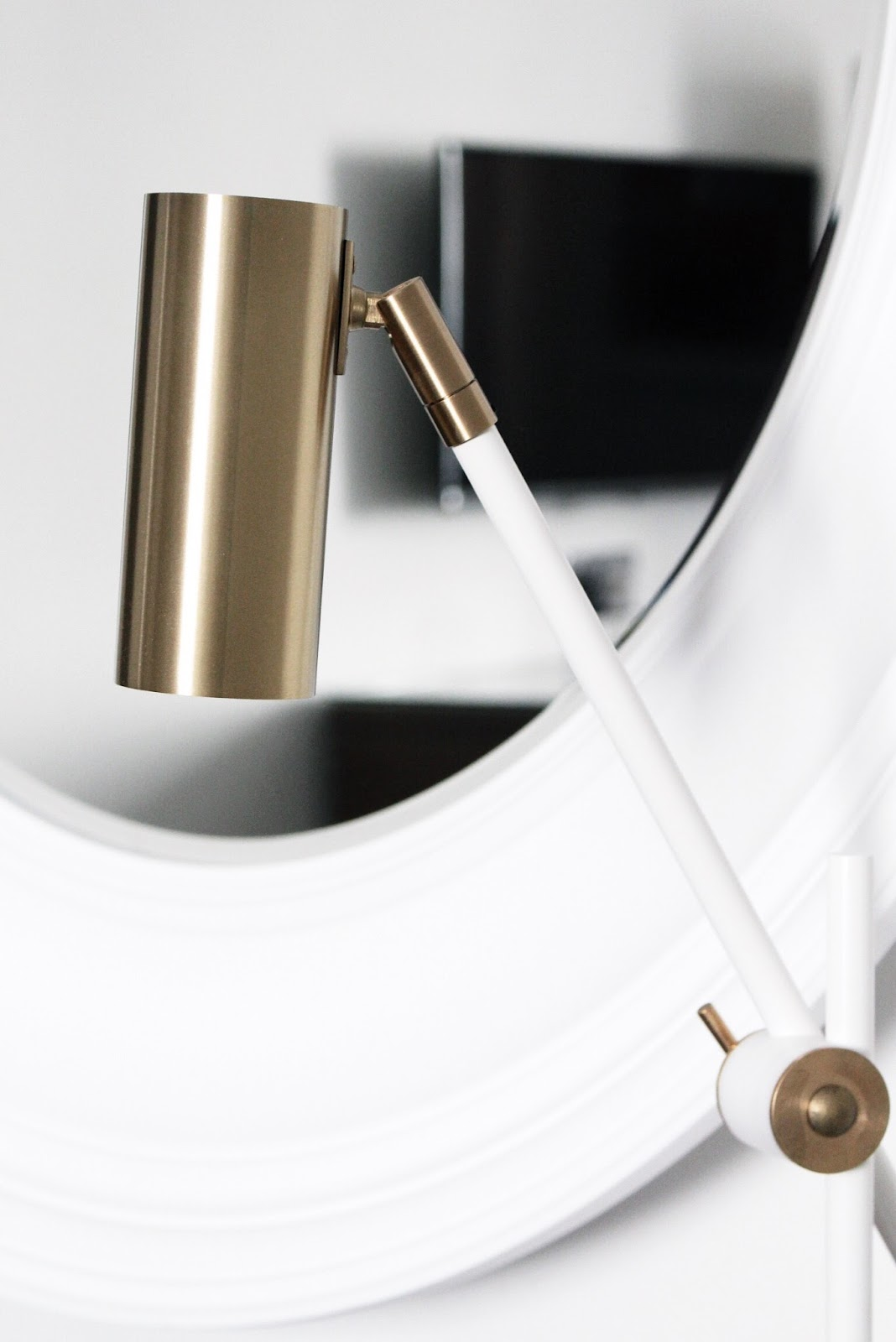 White and Gold Modern Light Fitting