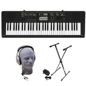 Casio Inc. Portable Keyboard Package with Samson Headphones, Stand and Power Supply