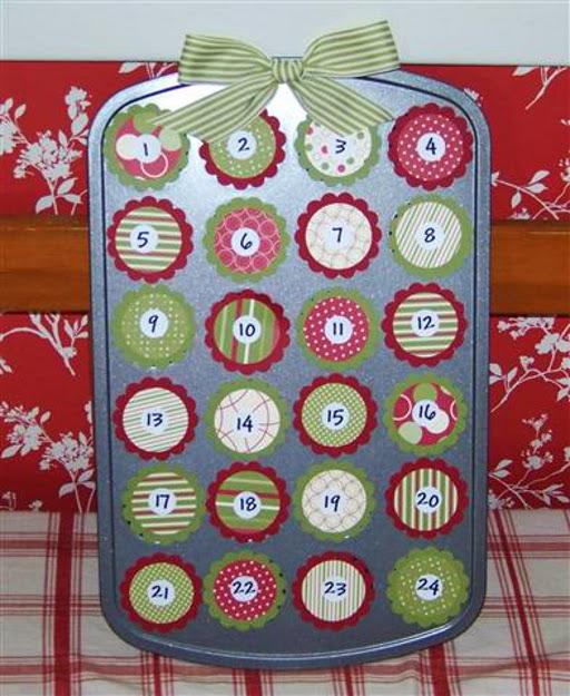 kalendarz adwentowy muffinki
