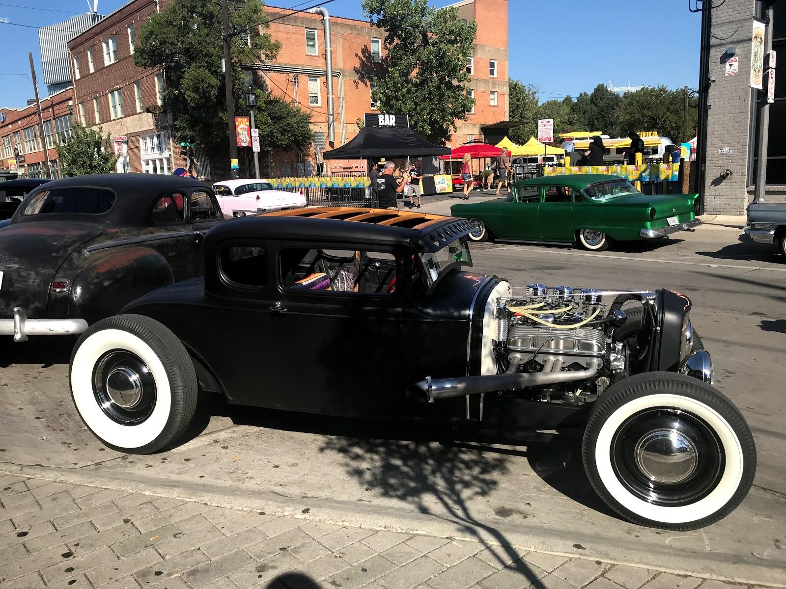 Image: Old school car seen at The Invasion Car Show Deep Ellum Dallas Texas