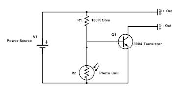 Dark activated switch circuit diagram