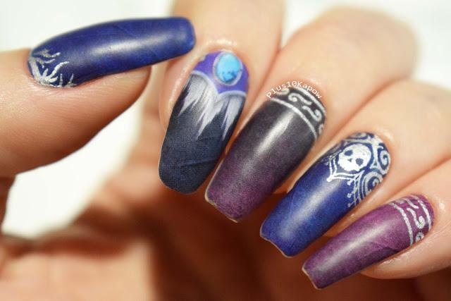 Espionage Cosmetics Banshee Queen Sylvanas World of Warcraft nerdy nail wraps