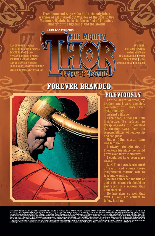 Thor (1998) Issue #74 #75 - English 2