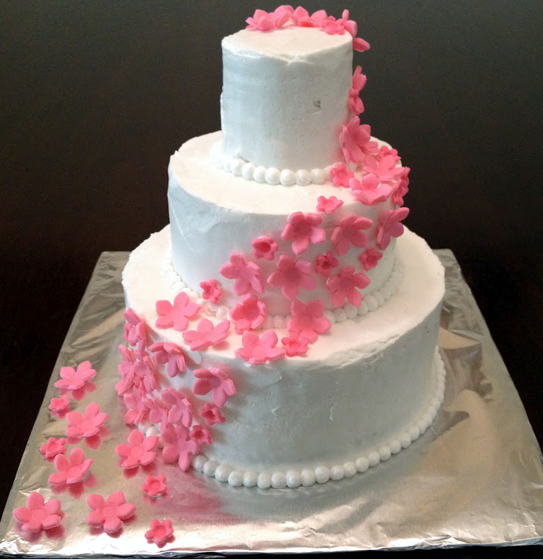 And I Made This Wedding Cake For The Occasion It Was A Simple But Delicious White Chocolate With Vanilla Buttercream Frosting