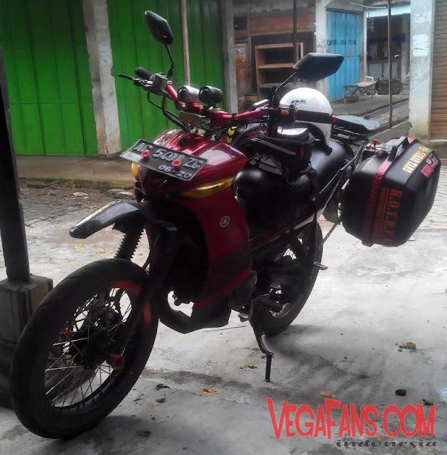 Vega ZR Merah Modif Touring