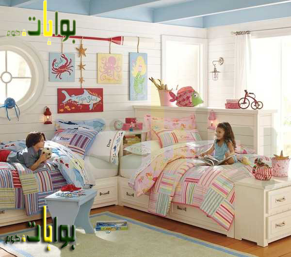 احدث صور غرف اطفال بنات وولاد بسريرين