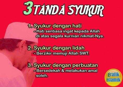 Tazkirah : Tanda Syukur