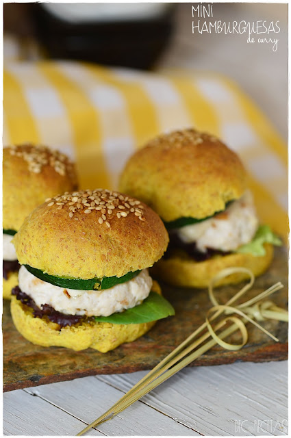 Mini hamburguesas de curry