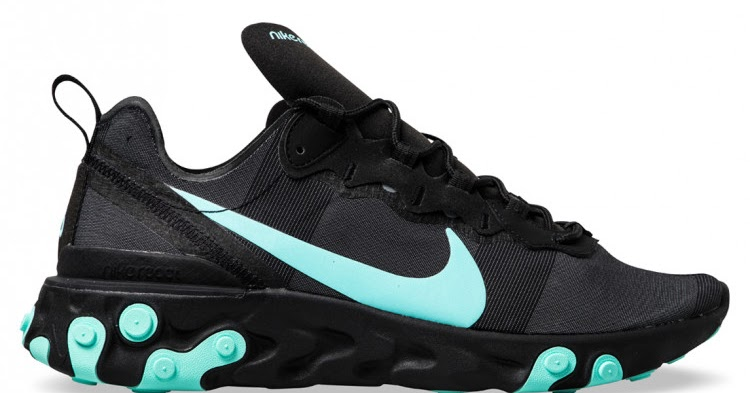 best service a11d6 91889 Nike React Element 55  BLACK AURORA GREEN