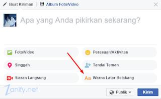 Cara Membuat Status FB dengan Latar Belakang Warna-Warni di Komputer