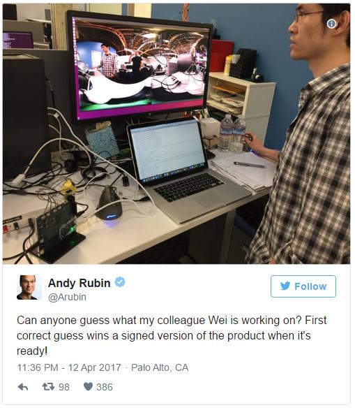 Pendiri Android, Andry Rubin mungkin akan memulai debut Smartphone Essential terbarunya