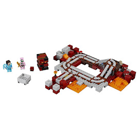 Minecraft The Nether Railway Lego Set