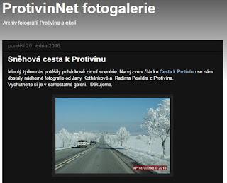 Sněhová cesta k Protivínu