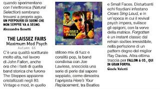 Italian magazine, Rockerilla, reviews The Laissez Fairs debut album