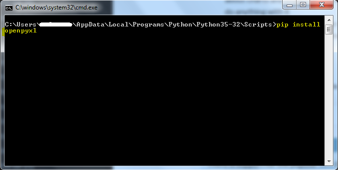 Python - Installing 'openpyxl' library    Automation Home