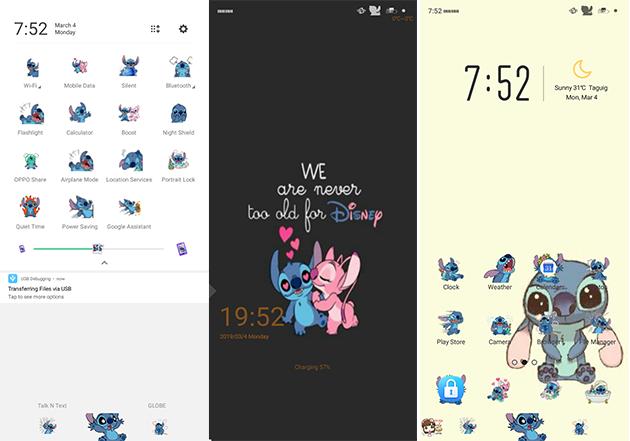 Oppo Theme: Oppo A3s Stitch Theme