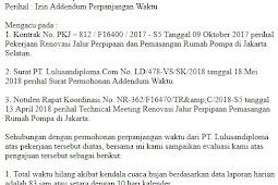 Contoh Surat Permohonan Perpanjangan Waktu Proyek
