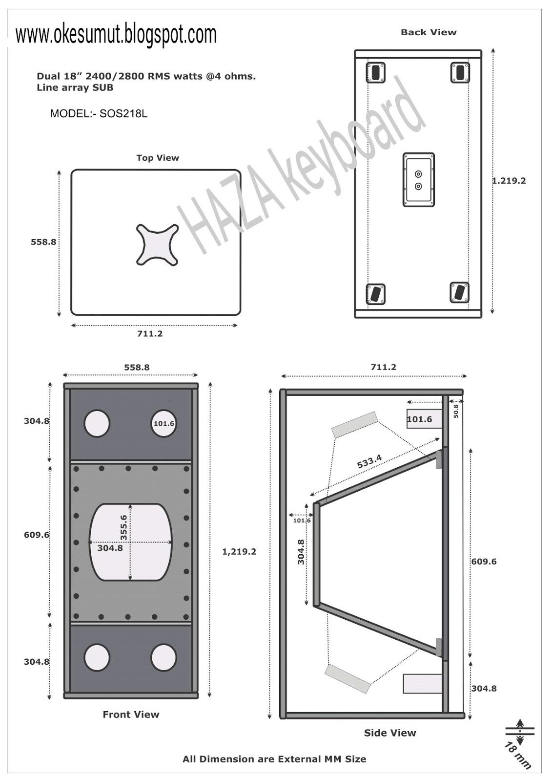 Skema Box Speaker 18 Sos 218l