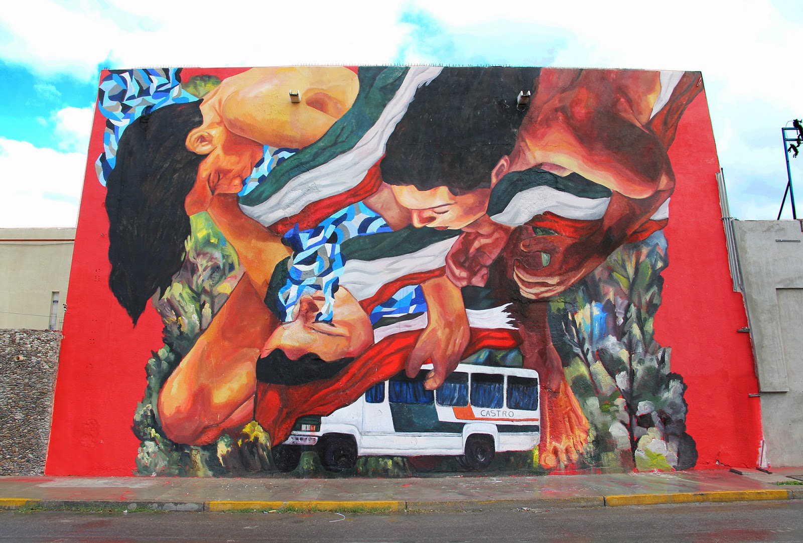 After the successful opening of his exhibition in Queretaro, Ever is still in Mexico where he was invited to paint a new piece on the streets of Ciudad Juarez.