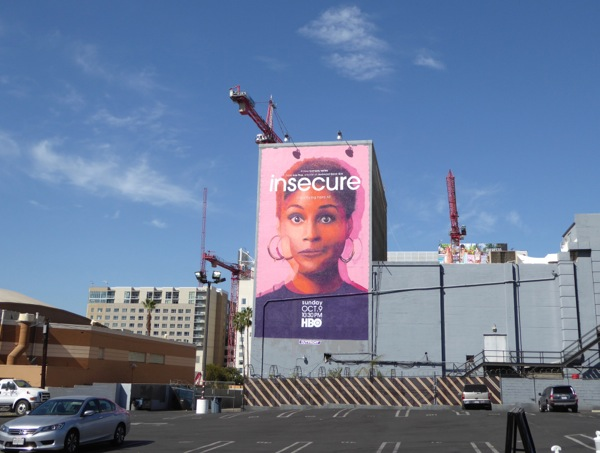 Insecure HBO series wall mural ad