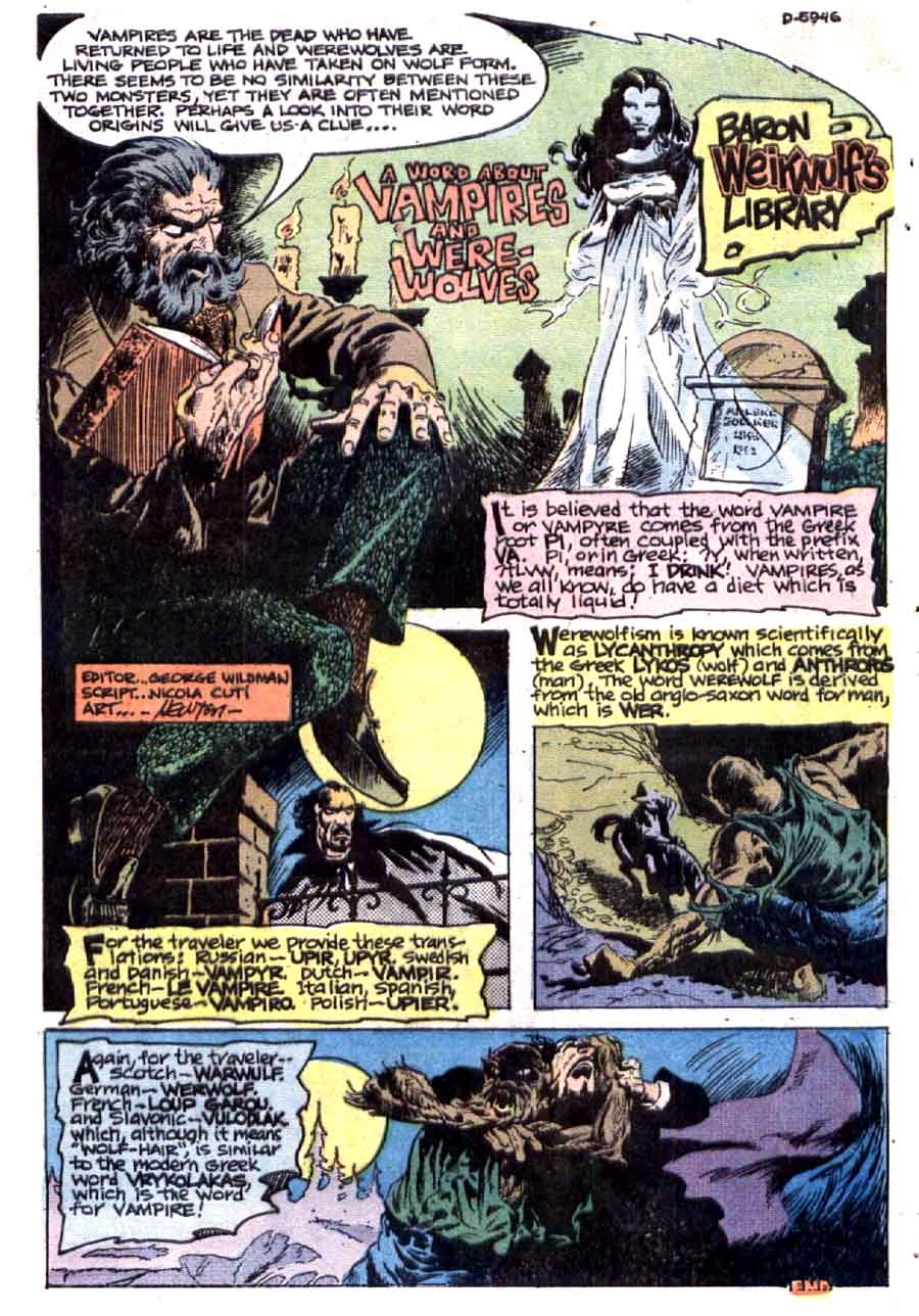 Ghostly Haunts #40 bronze age 1970s chalrton horror comic book page art by Don Newton