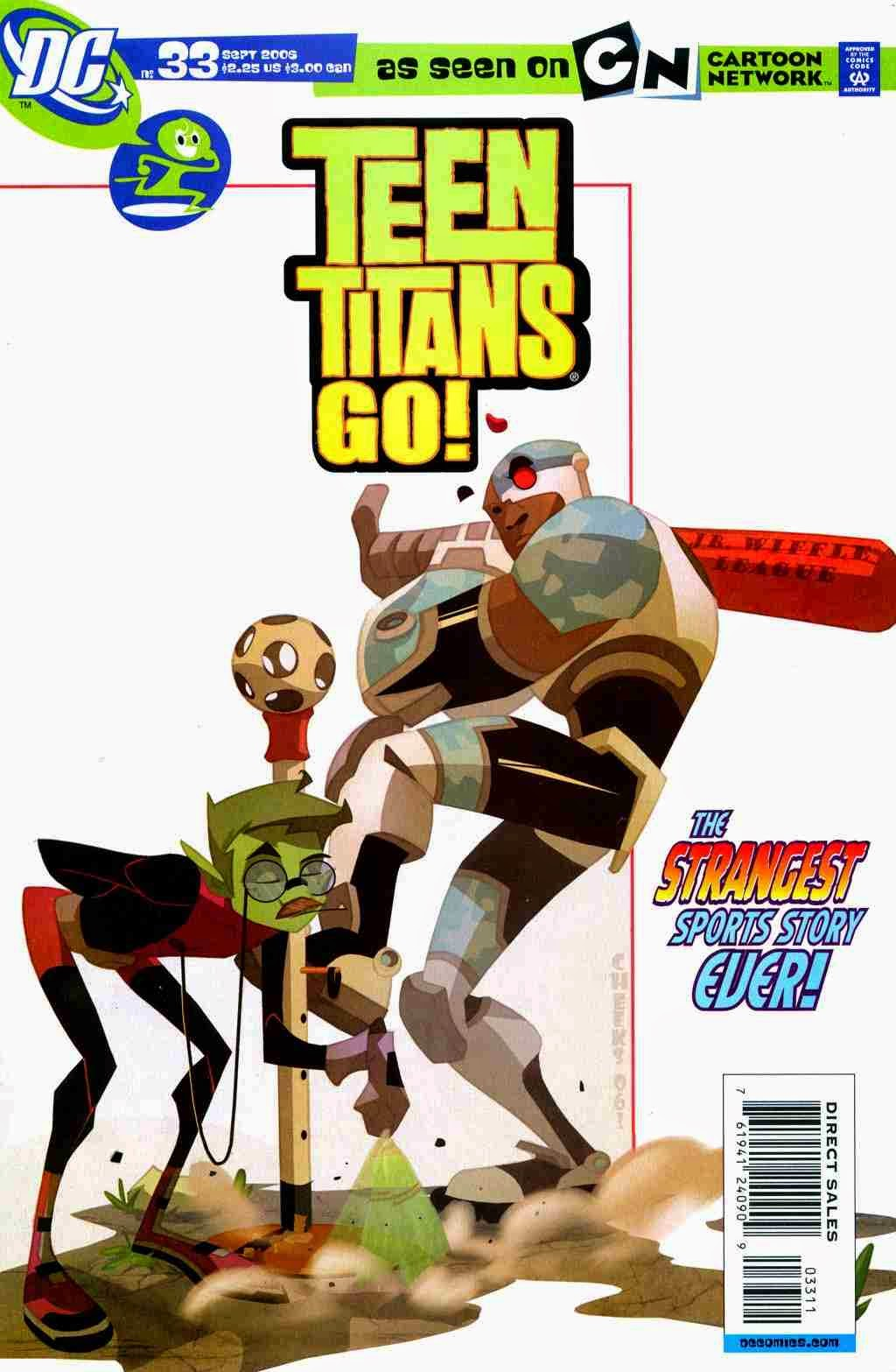 Teen Titans Go Comic Book Series Teen Titans Go Issue 33 - The Strangest Sports -6773