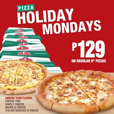 Manila Shopper: Papa John's Pizza Holiday Mondays Promo ...