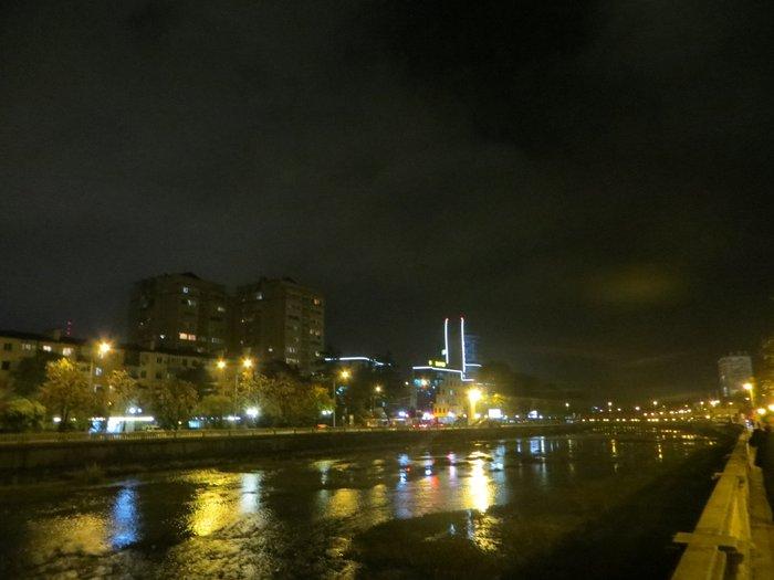 Река Сочи ночью