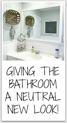 Pinterest pin of bathroom