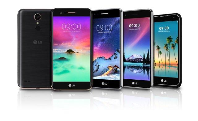 شركة LG تكشف عن 4 هواتف ذكية من سلسلة K لسنة 2017