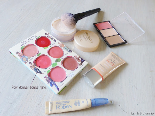 How 'Bout Them Apples The Balm - Air Mat Bourjois - correcteur Match Perfection Rimmel - poudre libre Bourjois