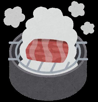 料理の「燻す」のイラスト