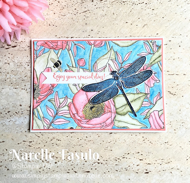 Inside The Lines DSP & Dragonfly Dreams - Simply Stamping with Narelle