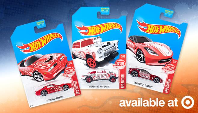 hot wheels red edition target exclusive